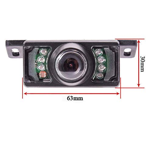 Glumes License Plate Rear View Reversing Backup Camera - Perfect Wide View Angle Design 7 LED Lights Night Vision Color CMOS Waterproof Universal Car Backing Camera (Black) by Glumes (Image #2)