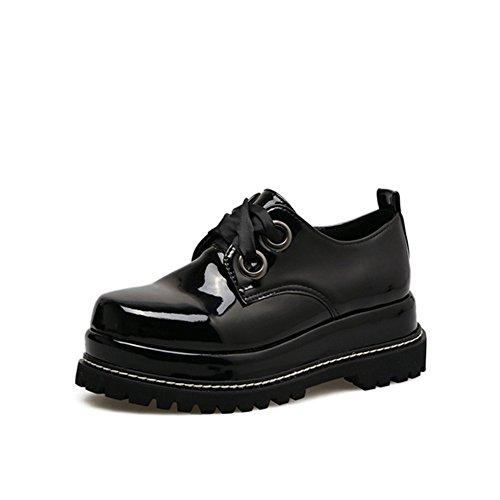 T-juli Damesmode Oxfords-schoenen - Comfortabele Veterschoenen Met Ronde Neus En Dikke Zool, Ronde Neus