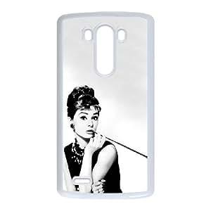 Audrey Hepburn LG G3 Cell Phone Case White JR5204211