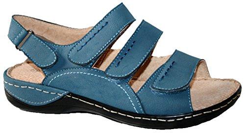 Cushion Walk - Sandalias de vestir de sintético para mujer blue 3 straps