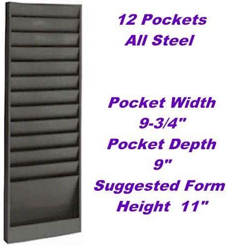[해외]VICS Eagle Model 174 Work Order Wall Rack Letter-Size 12 Pocket-Gray / VICS Eagle Model 174 Work Order Wall Rack, Letter-Size, 12 Pocket-Gray