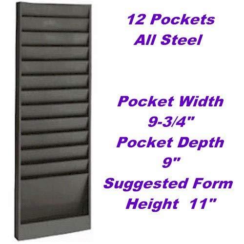 VICS Eagle Model 174 Work Order Wall Rack, Letter-Size, 12 Pocket-Gray by VIC