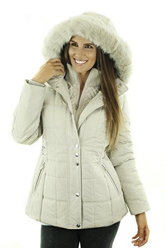Sportoli Women's Fashion Winter Puffer Coat with Plush Lined Detachable Hood Tofu - Avenue Vest Quilted