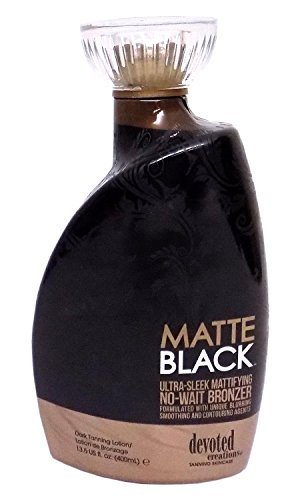 Matte Black, Ultra Sleek, No Wait Tanning Bronzer Lotion 13.5 Ounce by Devoted Creations