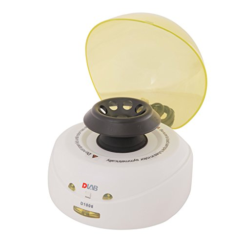 DLAB 9031004012 D1008 Palm Micro-Centrifuge With Yellow Lid, Including Two Rotors Of A08-2 and A02- Pcr8