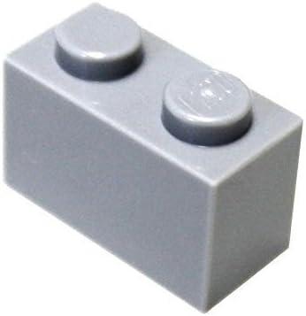 LEGO Parts and Pieces: Light Gray (Medium Stone Grey) 1x2 Brick x20