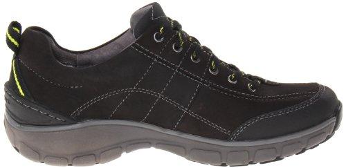 Clarks Donne Onda Trekking Sneaker. Pelle Nera