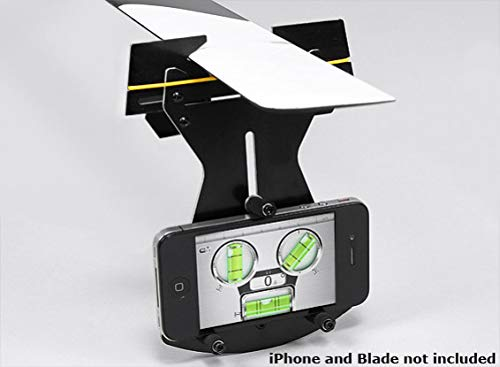 SKB family Flybarless Helicopter Pitch Gauge for use w/Smartphone