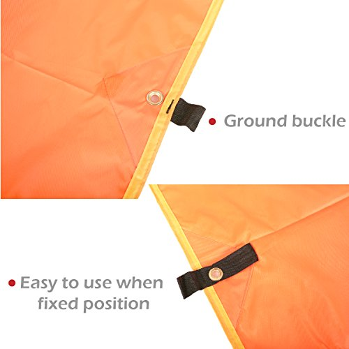 Azarxis Ground Cloth for Tent Tarp Footprint Camping Backpacking Floor Saver Groundsheet Waterproof Sand Free Picnic Hiking with Stakes Rope Carry Bag (Blue, S – 4.92×7.22ft)
