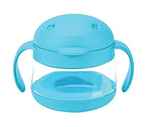 Ubbi Tweat Snack Container, Blue, 9 Ounce