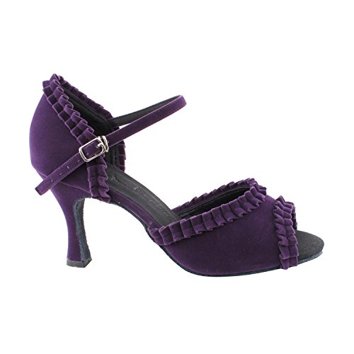 50 Wedding Salsa Sera7001 Shades Shoes Art Ballroom Latin Tango Blue 2 3 Party 5 by Of 5 Theather Pumps Purple amp; Heels For Swing 3 Dress Shoes Dance Velvet Collection Party Women Purple rrw8xq