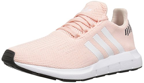 adidas Originals Women's Swift Running Shoe, ice Pink/White/Black, 8 M US
