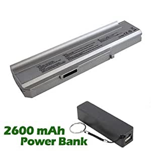 Battpit Bateria de repuesto para portátiles Lenovo 3000 N100 0689 (4400 mah) con 2600mAh Banco de energía / batería externa (negro) para Smartphone