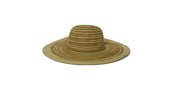 Chapéu de Praia Feminino Bege Com Listras  Amazon.com.br  Amazon Moda ba26f7d8190