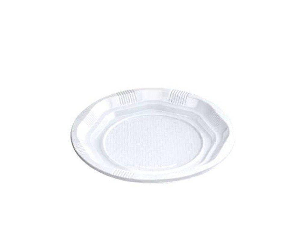 Lote de 400 Platos Desechables de Plástico Blanco Reforzados. Vajillas y Cuberterías. Complementos de Cumpleaños y Fiestas. 16,5 cm: Amazon.es: Hogar