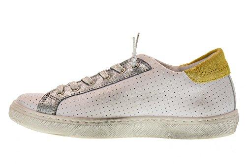 1824 Antal 2 Sko Sneakers Kvinder stjernet Lavt Guld Hvide 2sd SaqaAp6x