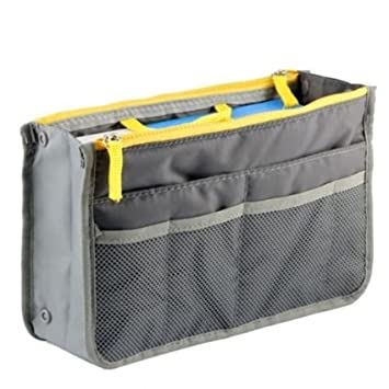 Vmore Waterproof Multipocket Travel Cosmetic Bag Toiletry Medicine Storage Organiser Pouch  Grey  Toiletry Kits