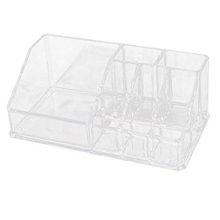 Amazon.com: eDealMax acrílico 9 ranuras maquillaje del lápiz Labial pantalla el cuadro de la caja del organizador Claro: Home & Kitchen