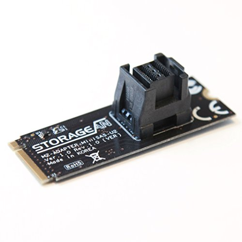 - STORAGEAN M.2 Adapter Card (Vertical) - M.2 Socket Mini-SAS HD to U.2 Cable (SFF-8643 to SFF-8639) Connector U.2 PCIe-NVMe SSD U2 U.2 Kit