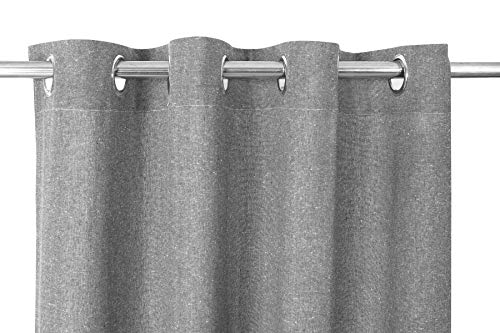 - Ramanta Home Cotton Chambray Curtain, Grommet Top, Window Panels, Cotton Curtains, 2 Panels Curtain - 50x84 inch - Set of 2 - Charcoal
