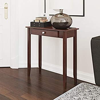 Amazon Com Small Console Table Skinny Compact Narrow For Entryway Storage Drawer Shelf