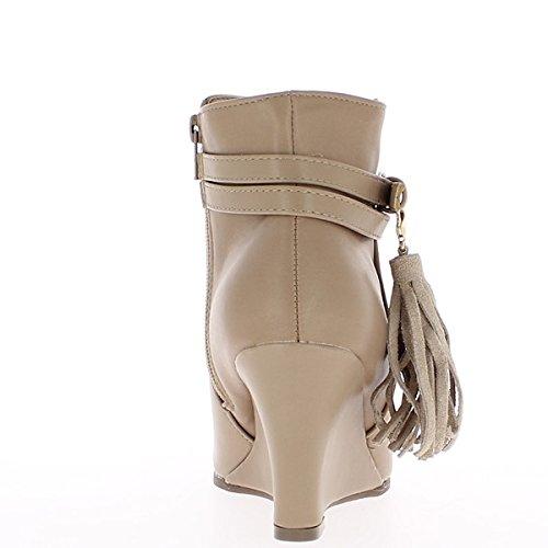 Botines de tacón mujer topo 8cm