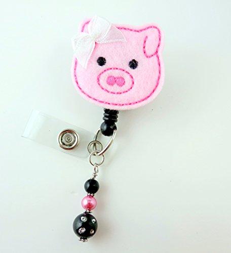 Cute Pig - Nurse Badge Reel - Retractable ID Badge Holder - Nurse Badge - Badge Clip - Badge Reels - Pediatric - RN - Name Badge Holder