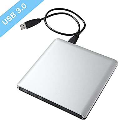 ZSMJ USB3.0 Ultra Slim Portable DVD CD Drive Read writer Burner,External DVD Optical Drive CD - RW DVD - RW Superdrive for Apple Mac Macbook Pro and laptop by ZSMJ