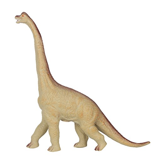 Huang Cheng Toys 16 Inch Brachiosaurus Dinosaur Figure Jurassic Animal PVC Stuffed with Cotton Soft Touch -