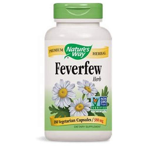 Natures Way Feverfew Leaves Capsule, 380 Mg - 100 per pack - 3 packs per case. ()