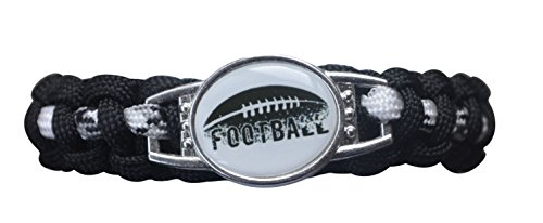 Infinity Collection Boys Football Bracelet, Adjustable Football Paracord Bracelets for Kids-Perfect Football Player Gift -