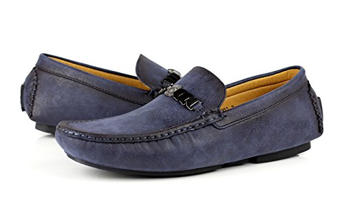 Slip Mocassini On Conduttore Uomo Mocassini Marca Casual Navy Fashion Ganasce JAS ntW5p