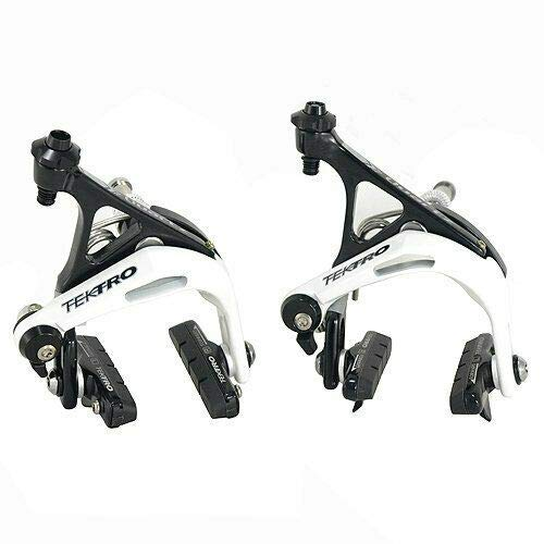 Black x White #MHT1712 Tektro R741 Aluminum Road Bike Dual Pivot Caliper Brake Set