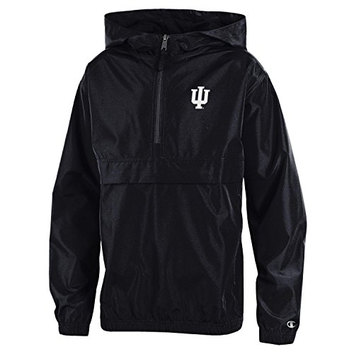 - Champion NCAA Indiana Hoosiers Youth Boys Packable Jacket, Small, Red