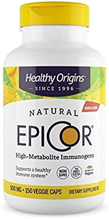 Healthy Origins EpiCor (Clinically Proven Immune Support) 500 mg, 150 Veggie Capsules