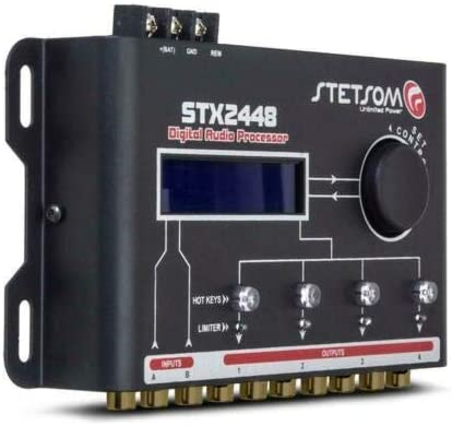 STX2448 Digital Audio Processor 4 Ch EQ 2 x 18 2 Ch RCA M2M