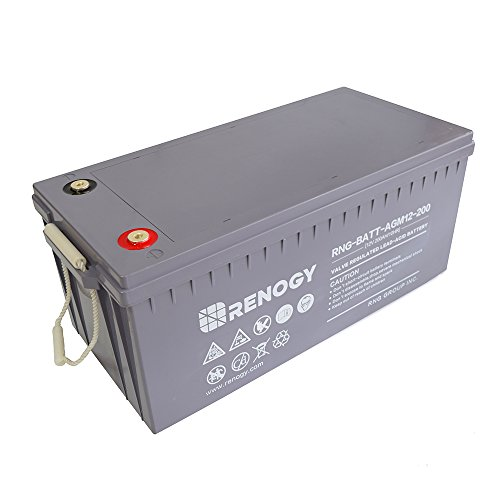- Renogy Deep Cycle AGM Battery 12 Volt 200Ah for RV, Solar, Marine, and Off-Grid Applications