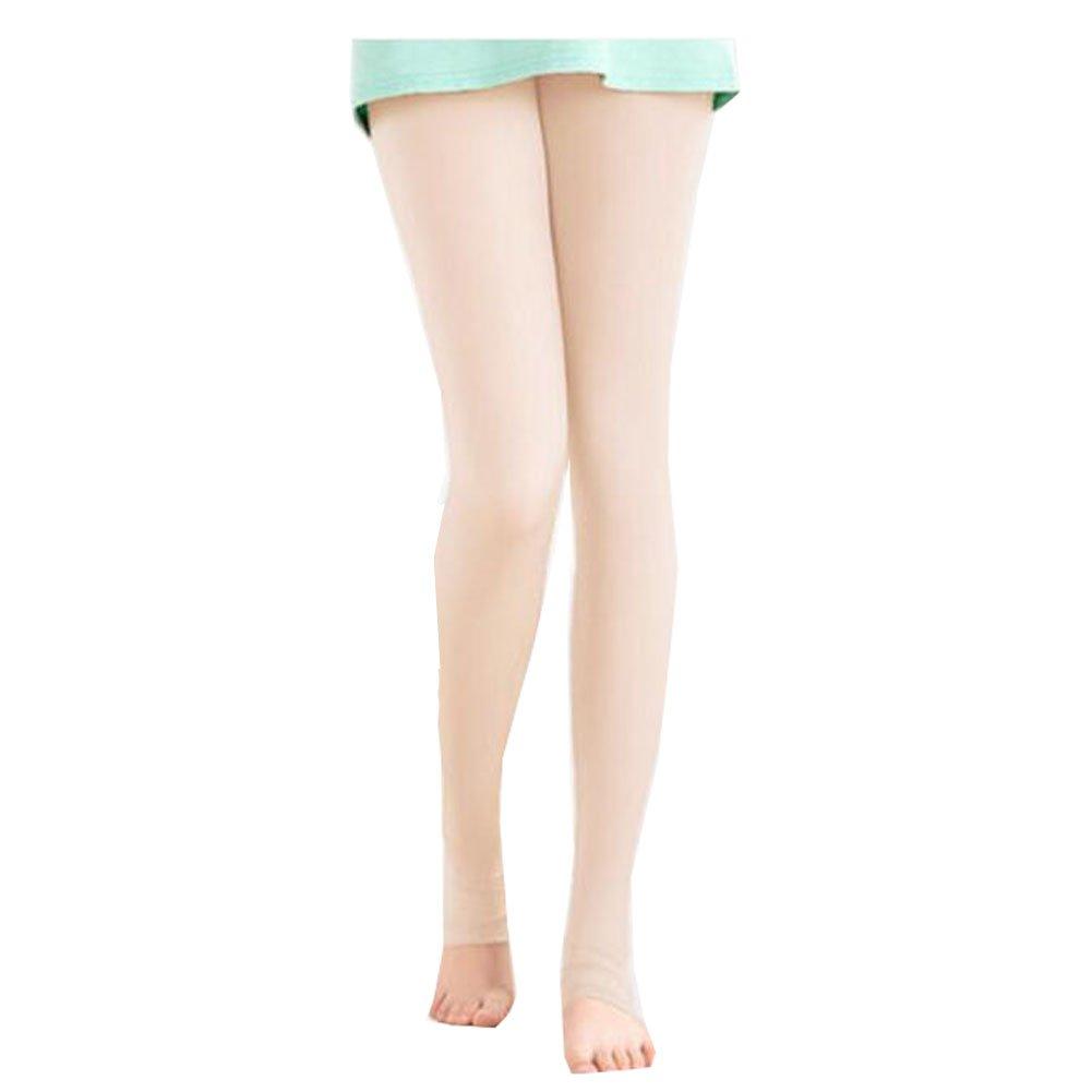 FANCY PUMPKIN Golf Sun Protection Golf Pants Cool Ice Silk Stocking Sport Leggings[Skin Color]