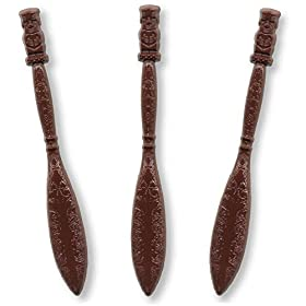 Royer 6 Inch Brown Tiki Swizzle Sticks, Set of 24 – Made In USA