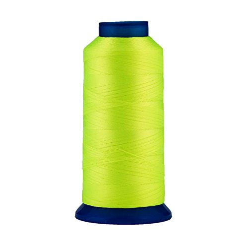 Selric [1500Yards / 130g / 30 Colors Available] UV Resistant High Strength Polyester Thread #69 T70 Size 210D/3 for Upholstery, Outdoor Market, Drapery, Beading, Purses, Leather (Neon Green)