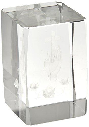 """Artisano Designs """"Blessed Prayer Laser Etched Crystal Favor, Set of 4"""