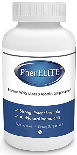 PhenELITE – HIGHEST Rated Strongest Grade Weight Loss Diet Pills – Fast Weight Loss, Hyper-Metabolising Fat Burner and Appetite Suppressor