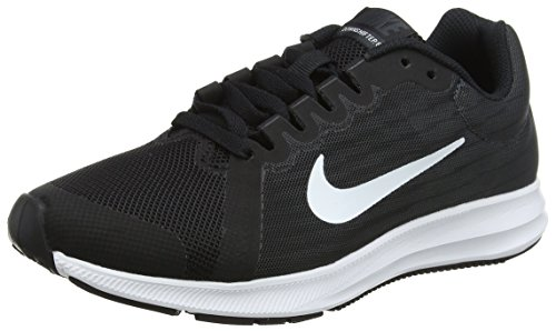 Nike Kids Downshifter 8 (GS) Running Shoe (7 M US Big Kid, Black/White/Anthracite) (Boys Nike Free Running Shoes)