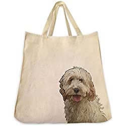 Cockapoo Tote Bags - Over 200 Different Breed and Animal Designs to Choose From - Extra Large 100% Cotton Over the Shoulder Handbags - Painted by Hand and Printed in the U.S.A.
