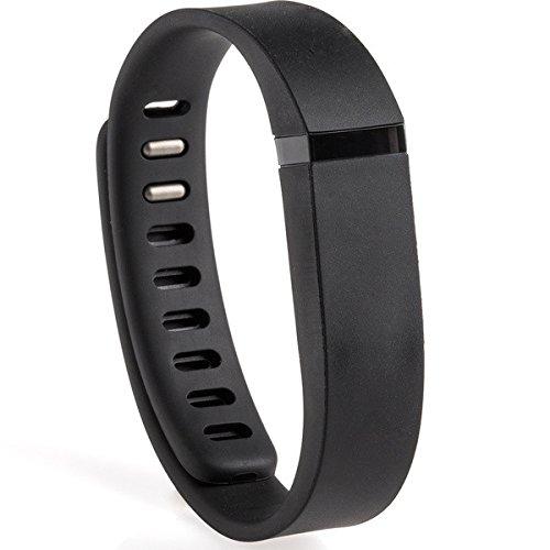 AllThingsAccessory ® neue Ersatz-Band für Fitbit Flex drahtlose LED Armband mit Verschluss / kein Tracker (Schwarz )