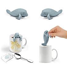 New Arrival Teapot Cute Manatee Infuser/Tea Strainer/Coffee & Tea Sets/Silicone Manatee (Gray)
