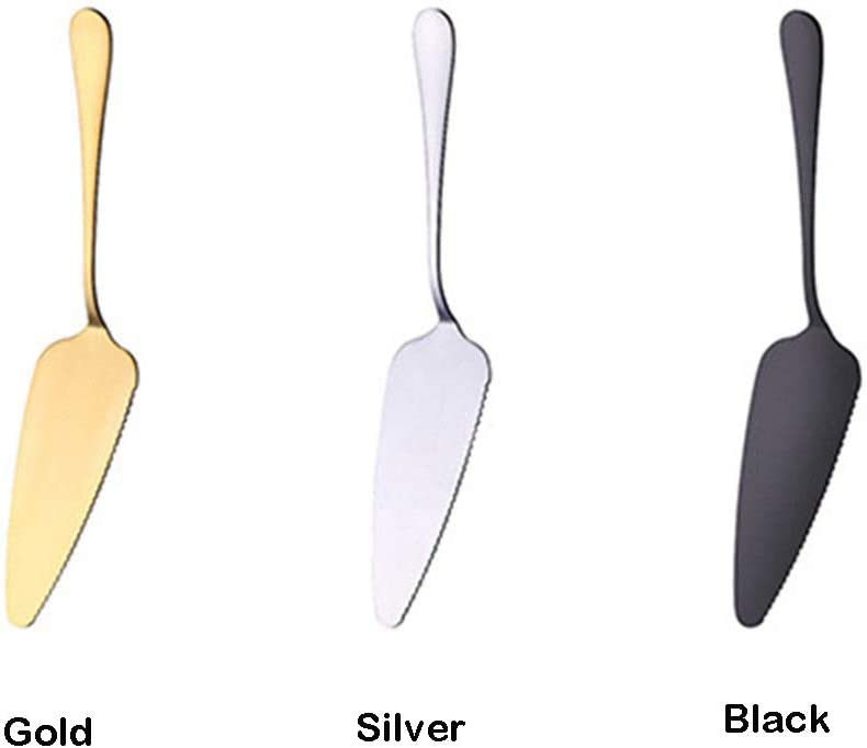Black Velidy 1Pack Stainless Steel Pie Cake Server Spatula Stainless Steel Pizza Shovel with Mirror Finished /& Onside with Fine Serrated Edge,Portable and Durable