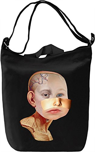 Baby head Borsa Giornaliera Canvas Canvas Day Bag| 100% Premium Cotton Canvas| DTG Printing|