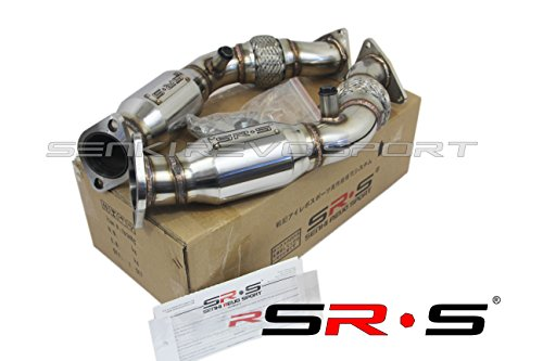 (SRS Downpipe with resonator for Nissan 07-08 350Z / 09-16 370Z)