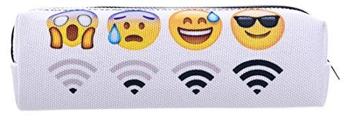 Kukubird Emoji Wifi diseño Cool impresión lápiz caso